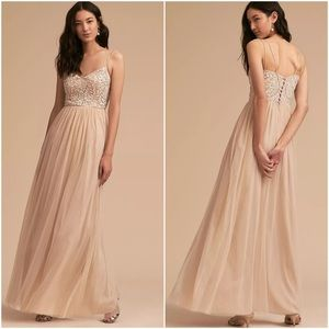 BHLDN Elowen Embroidered & Sequined Gown